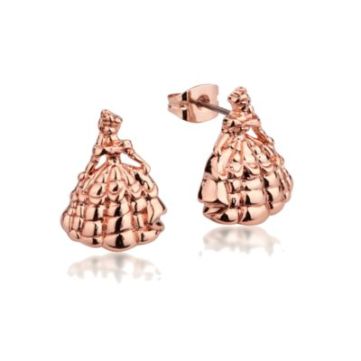 Couture Kingdom Rose Gold-Plated Earrings, Belle