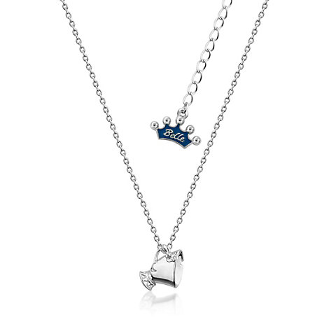 Couture Kingdom White Gold-Plated Necklace, Chip