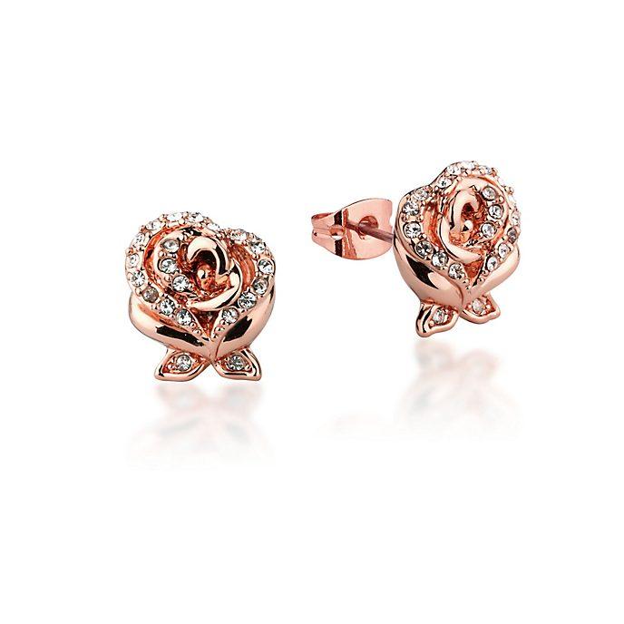 Boucles d'oreilles Belle plaquées or rose, collection Couture Kingdom
