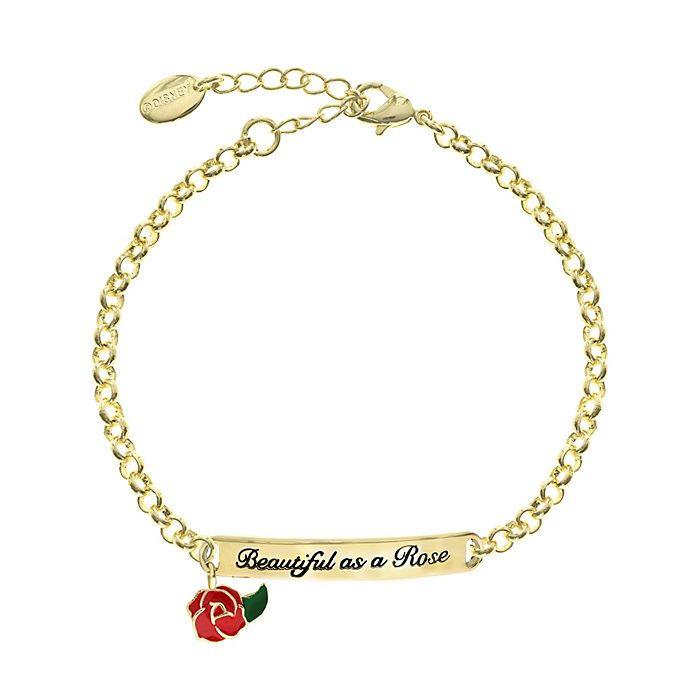 Beauty and the Beast Gold-Plated Quote Bracelet