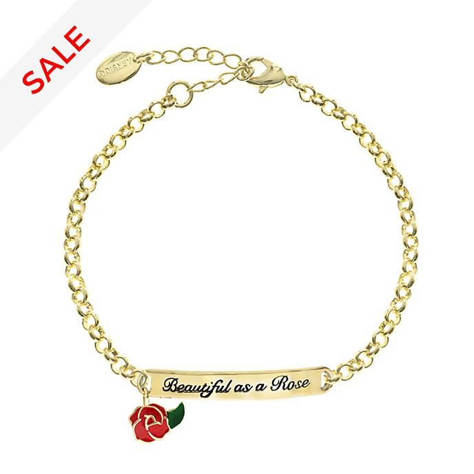 83d0969b1 Beauty and the Beast Gold-Plated Quote Bracelet
