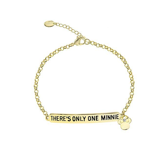 Bracelet citation Minnie Mouse plaqué or