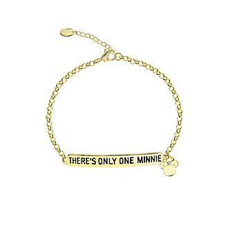 Bracelet citation Minnie Mouse plaqué or
