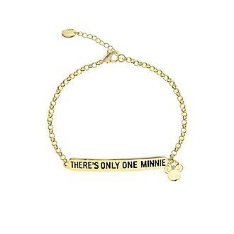 Pulsera con inscripción bañada en oro, Minnie