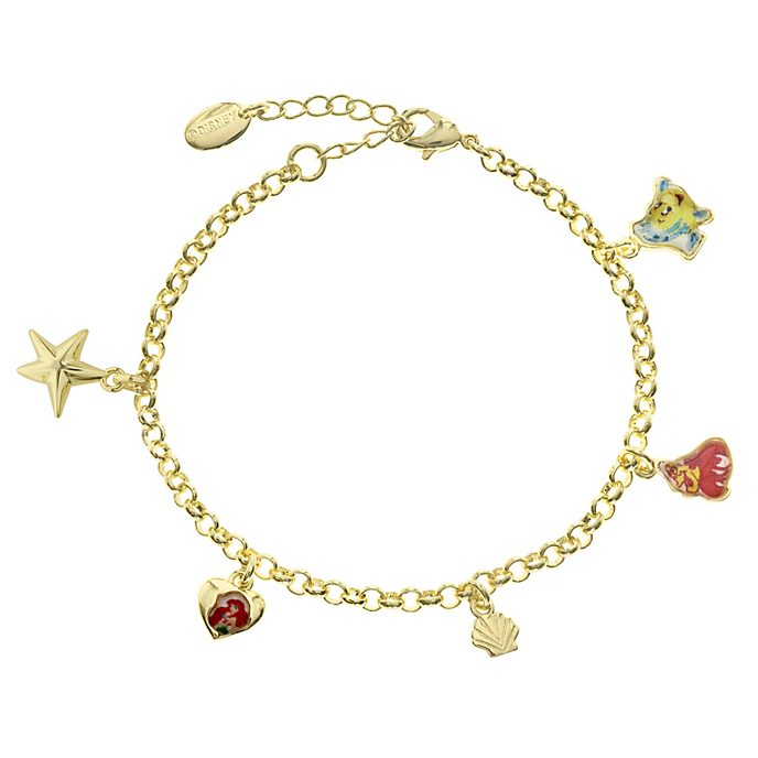 The Little Mermaid Gold-Plated Charm Bracelet