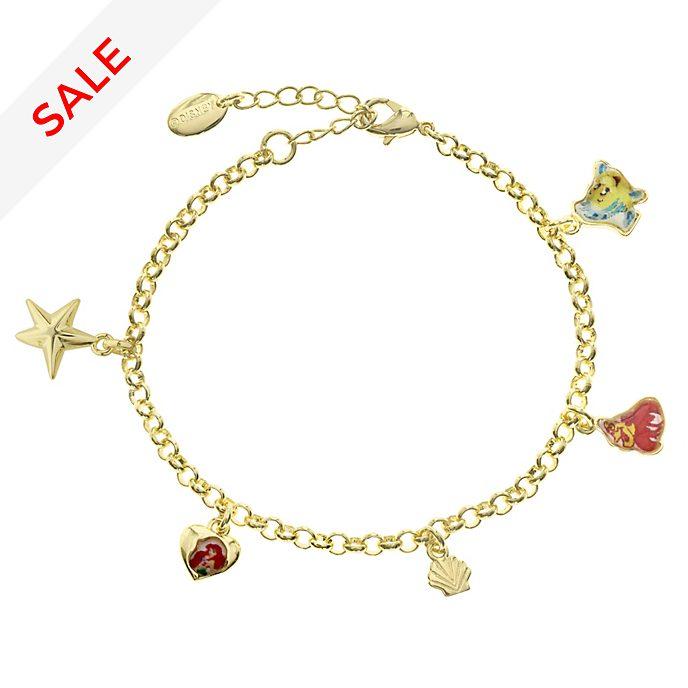 The Little Mermaid Gold-Plated Charm Bracelet