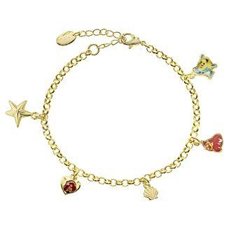 Bracelet La Petite Sirène plaqué or à breloque
