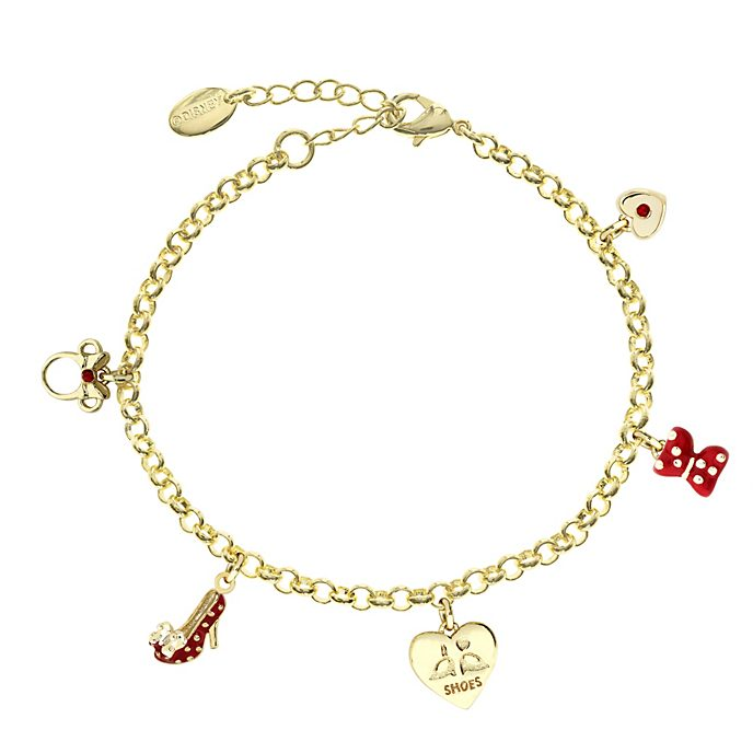 Minnie Mouse Gold-Plated Charm Bracelet