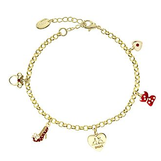 Bracelet Minnie Mouse plaqué or à breloque