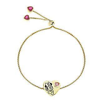 Pulsera deslizante bañada en oro corazón, Minnie