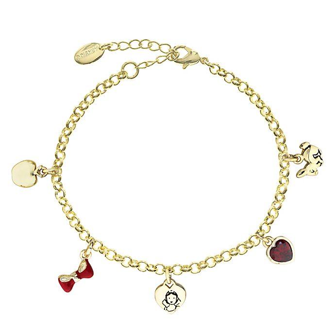 Bracelet Blanche Neige plaqué or à breloque