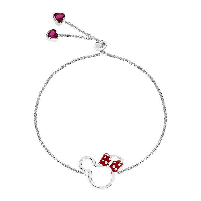Minnie Maus - Versilbertes Armband mit Schiebeperle