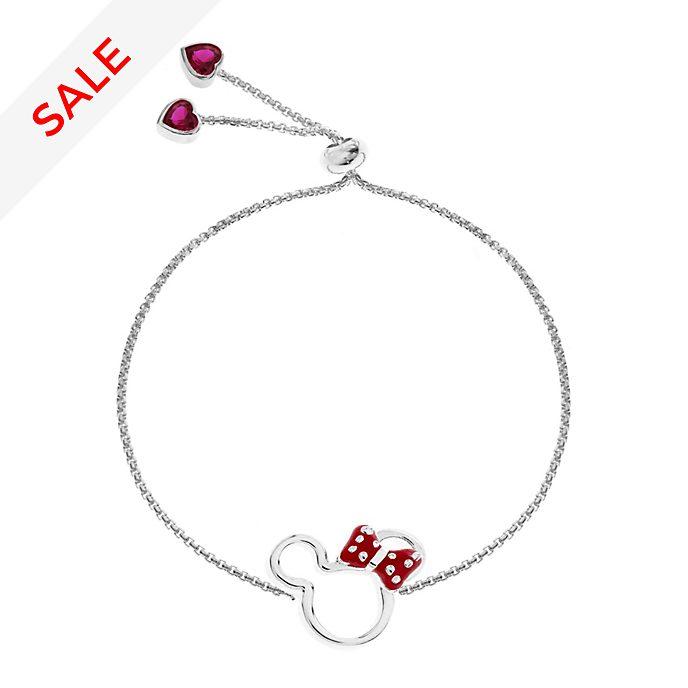 Minnie Mouse Slider Silver-Plated Bracelet