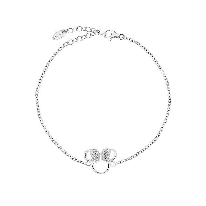 Bracelet Icône de Minnie Mouse plaqué argent