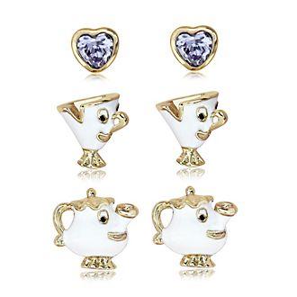Mrs. Bric e Chicco, 3 paia di orecchini placcati oro