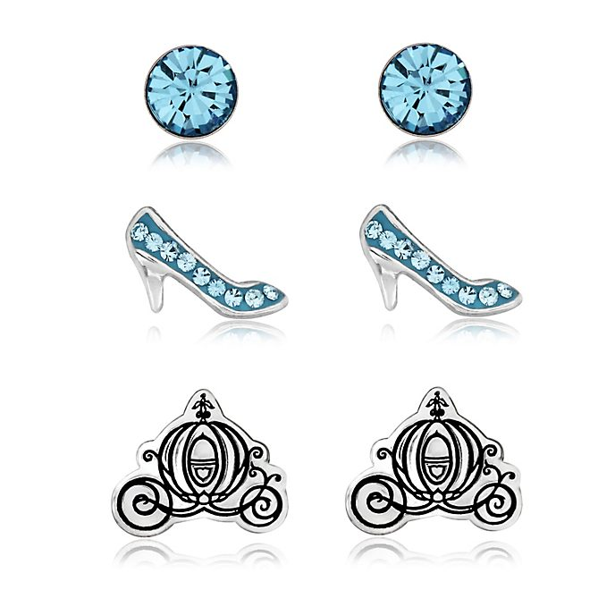 Cinderella Silver-Plated Earrings, Set of 3