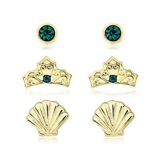 La Sirenetta, 3 paia di orecchini placcati oro