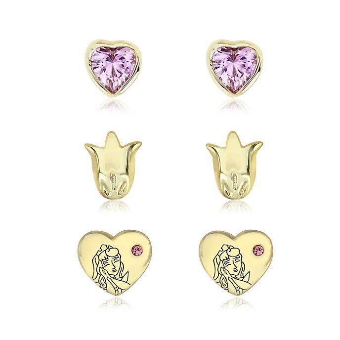 La Bella Addormentata, 3 paia di orecchini placcati oro