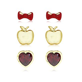 Snow White Gold-Plated Earrings, Set of 3