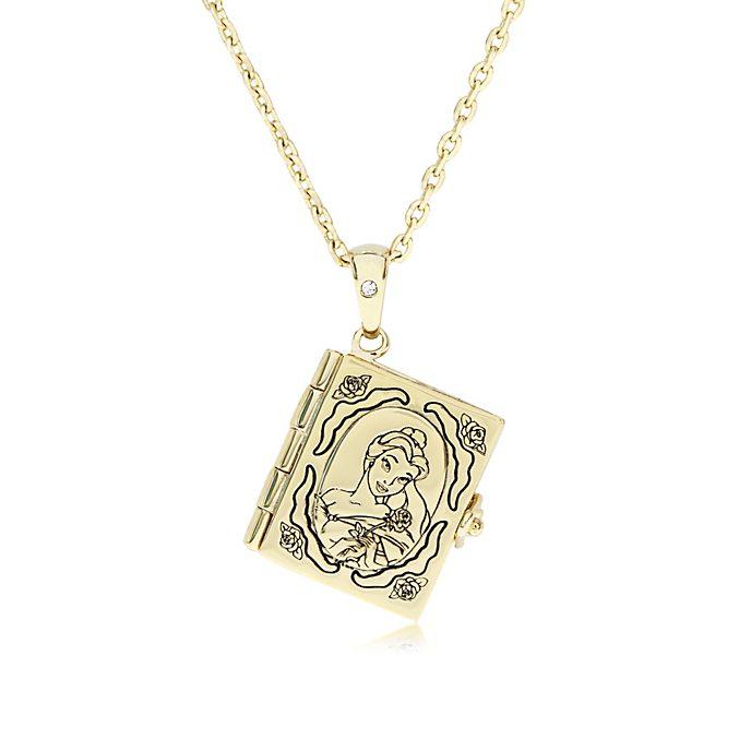 Médaillon Livre de Belle plaqué or, La Belle et la Bête