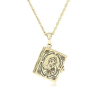 Belle Gold-Plated Book Locket, Beauty and the Beast