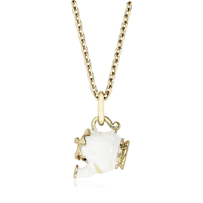 Mrs Potts Gold-Plated Necklace, Beauty and the Beast