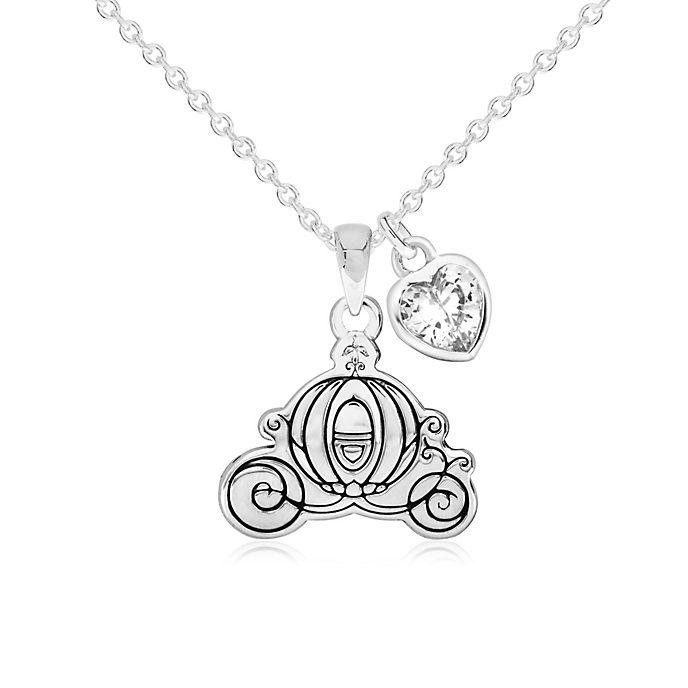 Cinderellas Kutsche - Versilberte Halskette