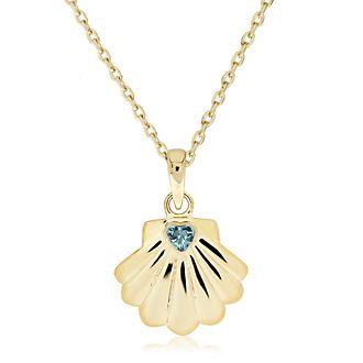 Arielle, die Meerjungfrau - Vergoldete Halskette mit Muschelanhänger