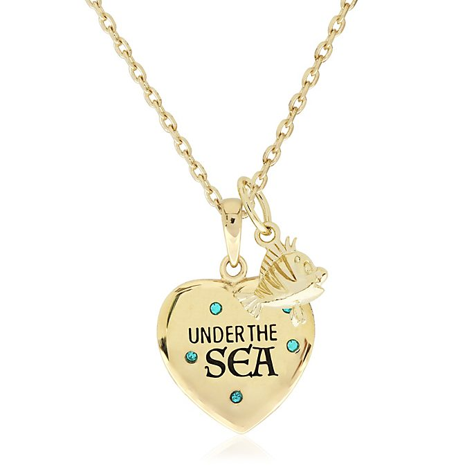 Collier Sous l'océan plaqué or, La Petite Sirène