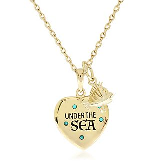 Collar bañado en oro Bajo el mar, La Sirenita