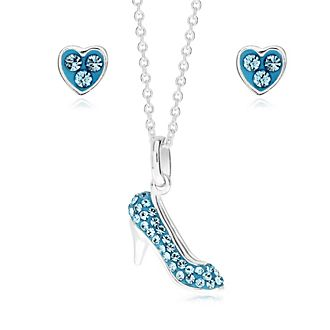 Cinderella Silver-Plated Pendant and Earrings Set