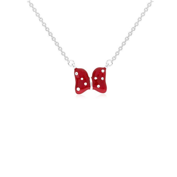 Minnies Schleife - Versilberte Halskette