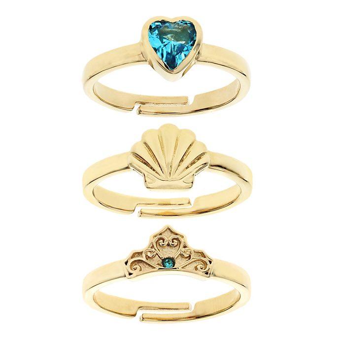 Arielle, die Meerjungfrau - Vergoldete Ringe - 3-teiliges Set