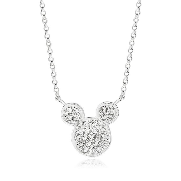 Mickey Mouse Icon Silver-Plated Necklace