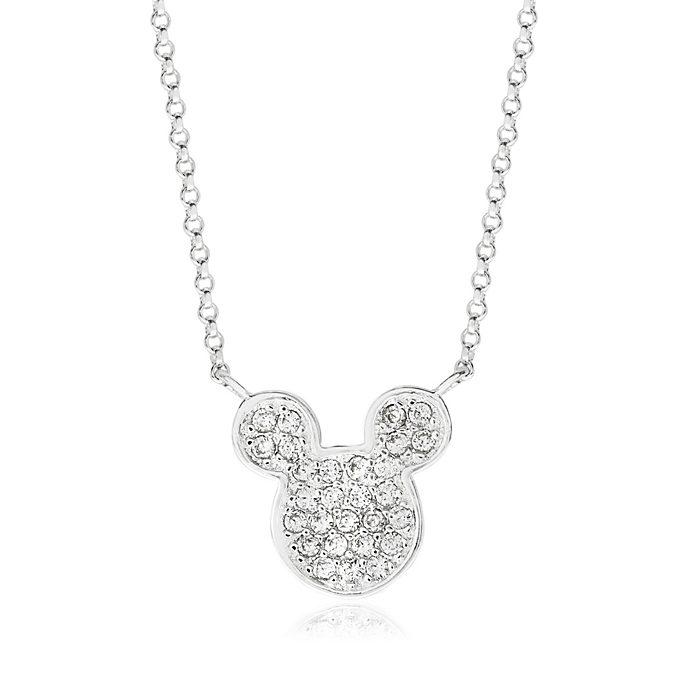 Micky Maus Symbol - Versilberte Halskette