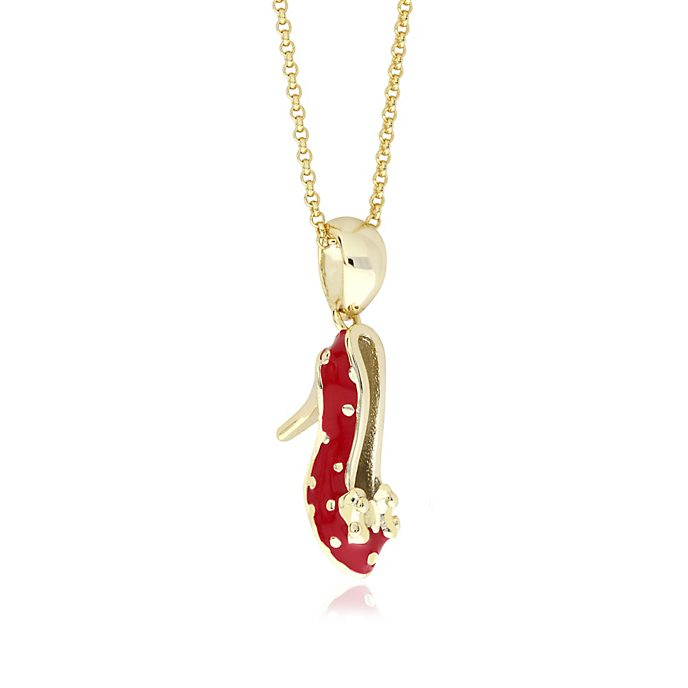 Minnie Mouse Shoe Gold-Plated Necklace