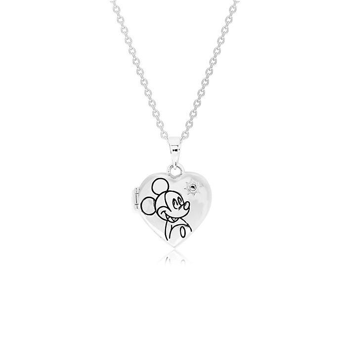 Medallón bañado en plata, Mickey Mouse