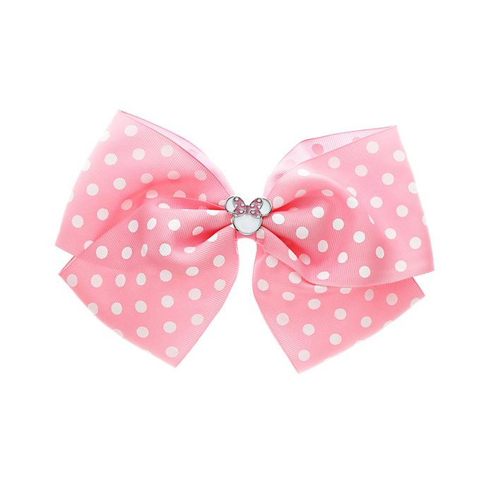 Noeud à pois rose Minnie Mouse