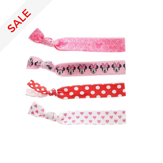 Minnie Mouse Hair Bands, Pack of 4
