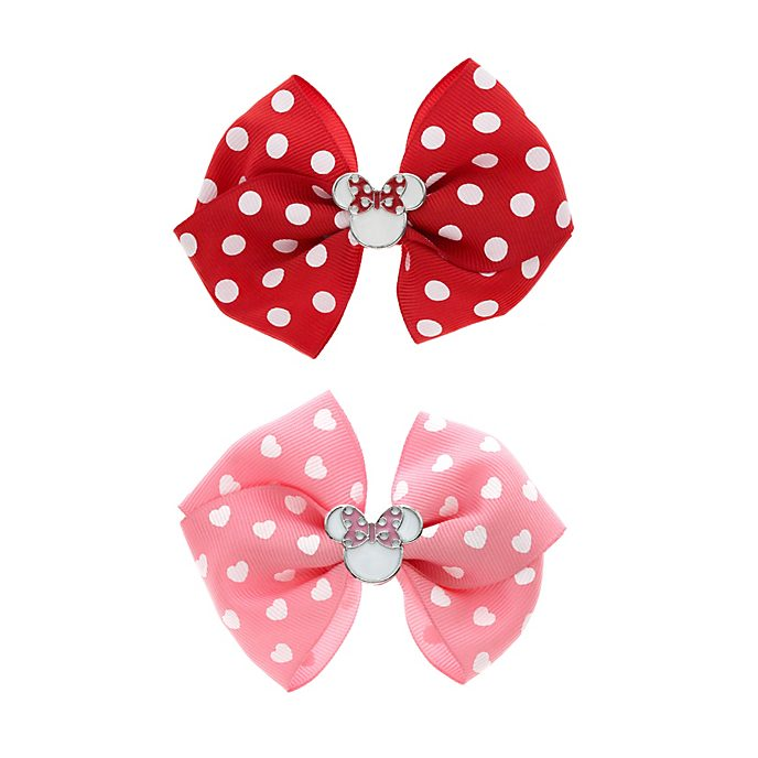 Minnie Mouse Bow Hair Clips, Pack of 2
