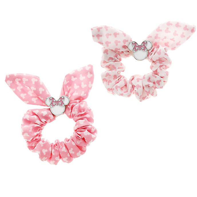 Minnie Mouse Bow Scrunchies, Pack of 2