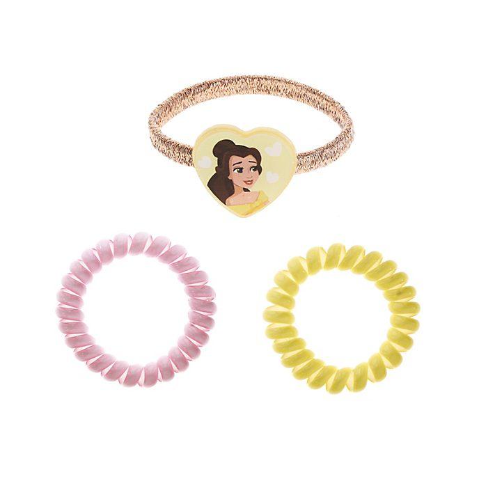 Disney Princess Belle Hair Bands, Pack of 3