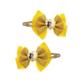 Disney Princess Belle Bow Hair Clips, Pack of 2