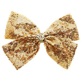 Disney Princess Beauty and the Beast Golden Sequin Hair Bow