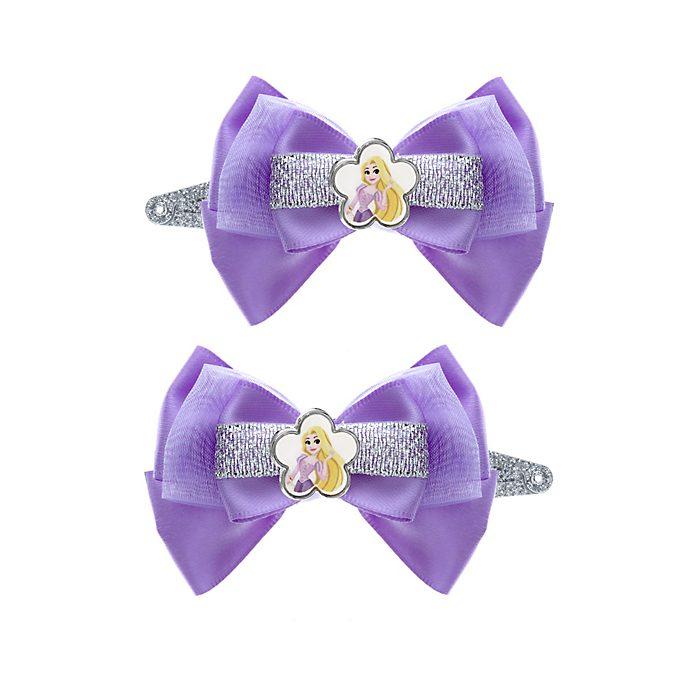 Lot de 2barrettes à noeud Raiponce, Disney Princesses