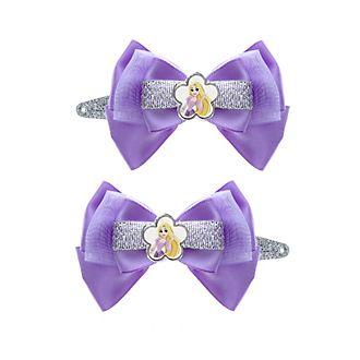 Rapunzel Principesse Disney, 2 fermagli per capelli con fiocco
