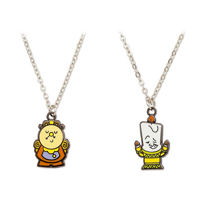 Disney Store Beauty and the Beast Necklaces, Set of 2