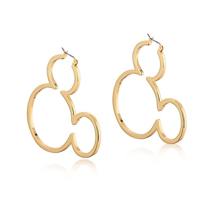 Couture Kingdom Mickey Mouse Gold-Plated Hoop Earrings