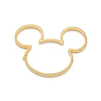 Brazalete bañado en oro Mickey Mouse, Couture Kingdom