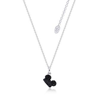 Couture Kingdom Mickey Mouse White Gold-Plated Black Crystal Necklace